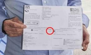 Pensionato riceve bollettino Inps, restituire un centesimo
