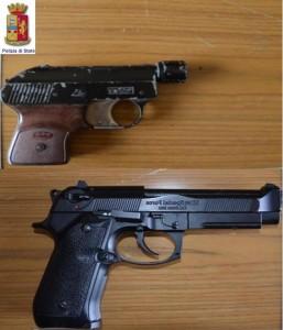Manduria-pistole sequestrate