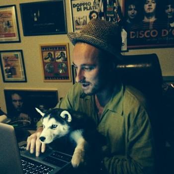 Francesco Facchinetti con il suo cane FLOYD!