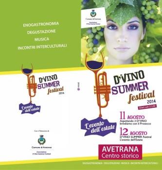 D'Vino Summer Festival, nel centro storico di Avetrana l'11 e il 12 Agosto