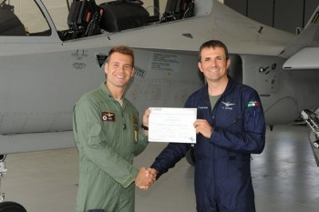 Alenia Aermacchi T 346a   E di Manduria uno dei primi piloti del 61° Stormo abilitati