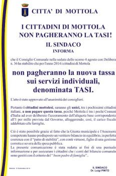 manifesto SINDACO TASI