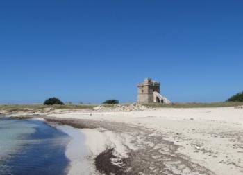 la spiaggetta di Torre Squillace in inverno