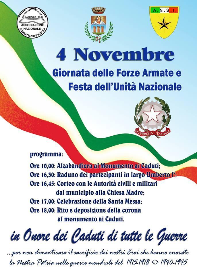Maruggio si prepara a ricordare i Caduti della 1^ e 2^ Guerra Mondiale