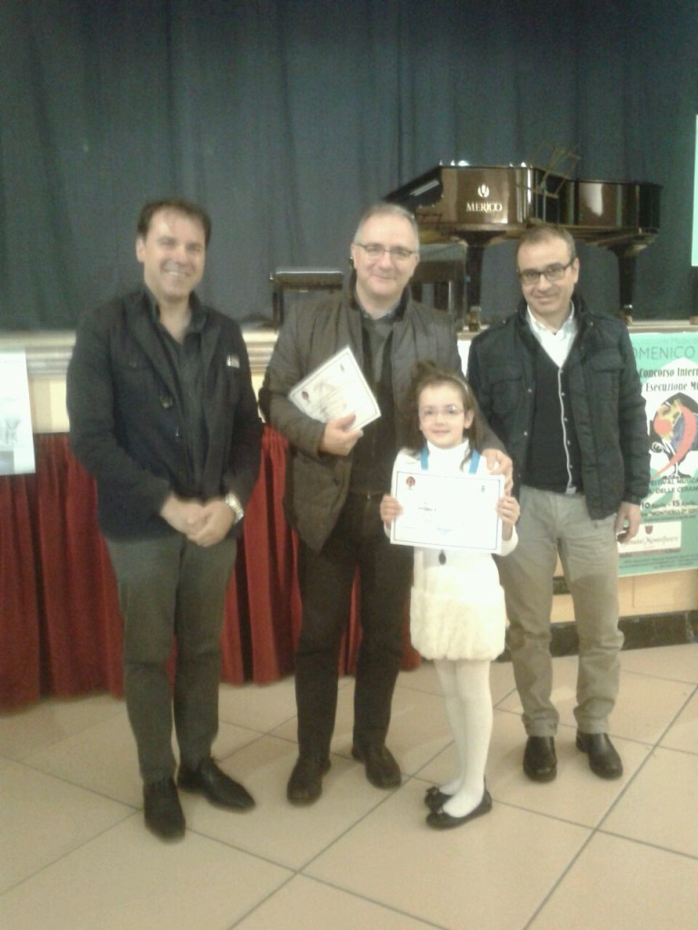 La premiazione di Sofia Moscogiuri