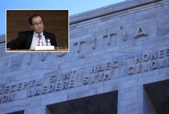Nel riquadro - Fernando Ciampi, il giudice della sezione fallimentare ucciso all'intenro della sua stanza nel Tribunale di Milano