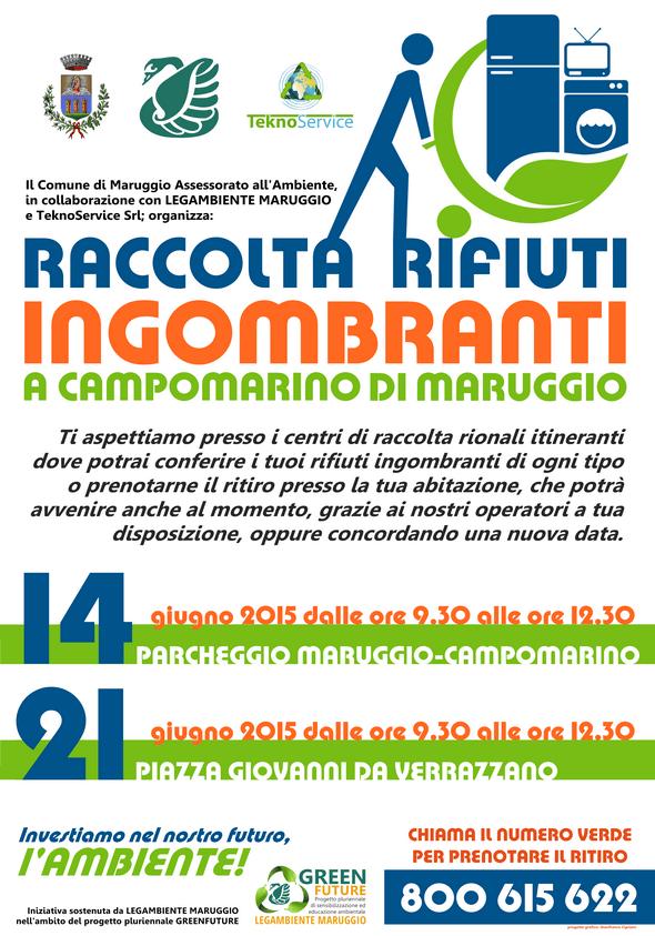 Raccolta straordinaria dei rifiuti ingombranti a Campomarino di Maruggio (Ta)