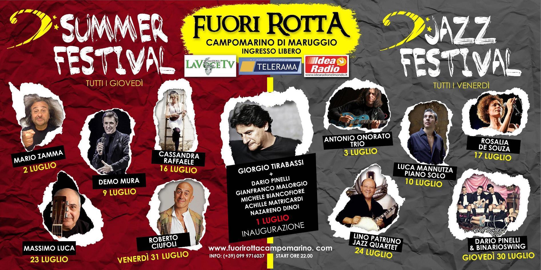 Summer Festival e Jazz Festival Fuori Rotta – Campomarino di Maruggio