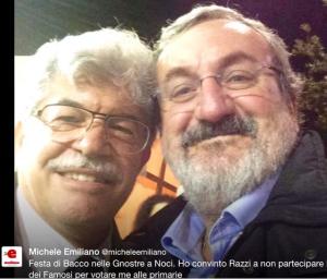foto presa dalla rete, Emiliano, in un selfie, con il Sen. Razzi