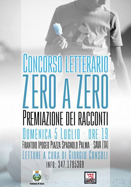 """Sava – Concorso letterario """"Zero a Zero"""", edizione 2015"""