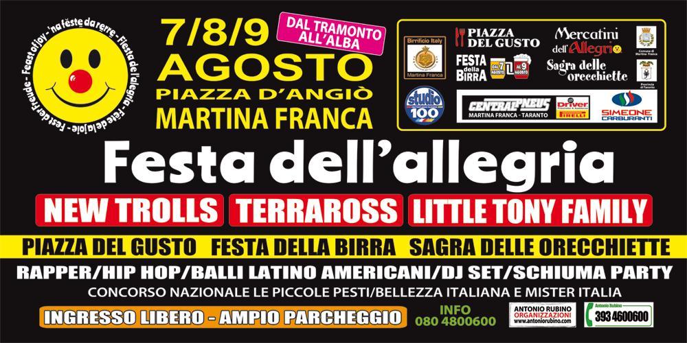 Festa dell'Allegria a Martina Franca dal 7 al 9 di agosto
