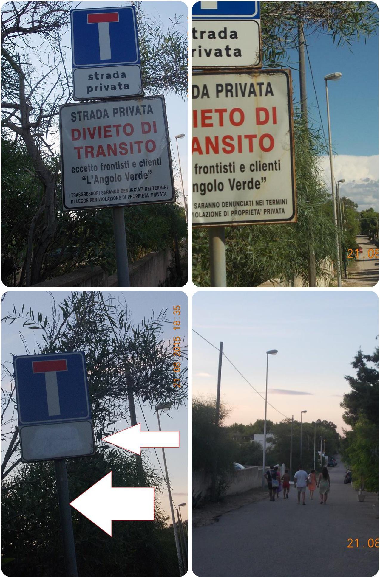 Strada privata la voce di maruggio for Strada privata