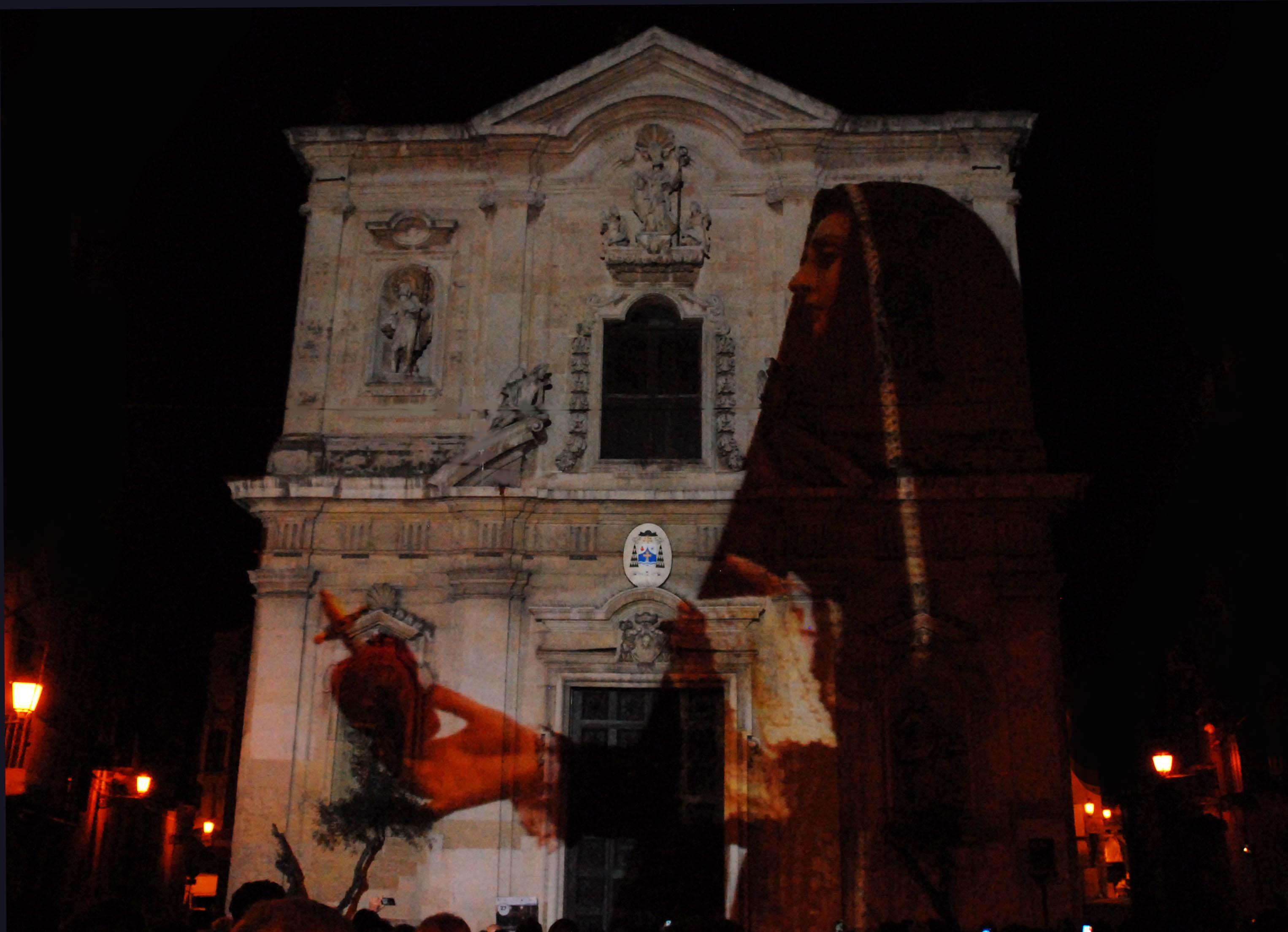 Addolorata su Duomo Video mapping 2