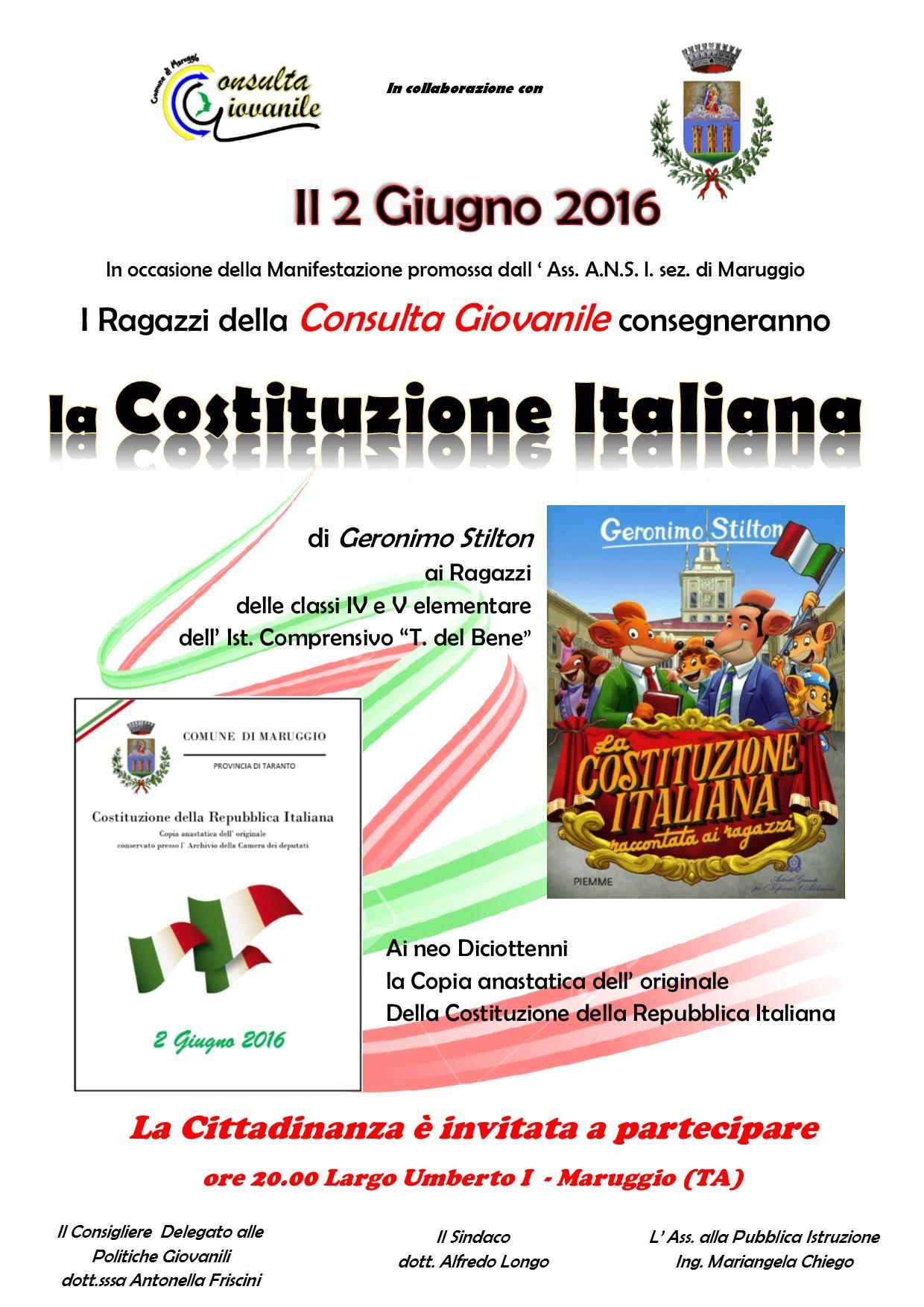 Pubblicazione la costituzione italiana