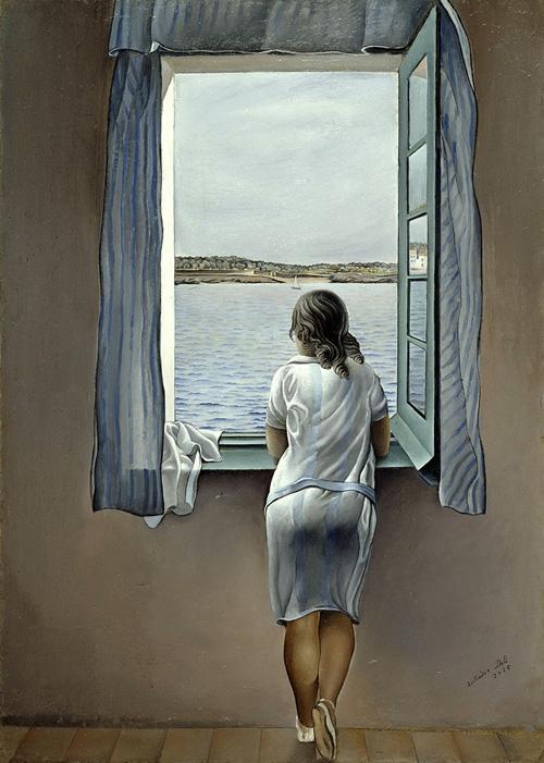 Salvador Dalì Ragazza alla finestra (Muchacha en la ventana) ,1925 Olio su tela