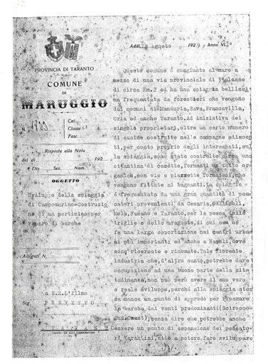 La lettera del Podestà