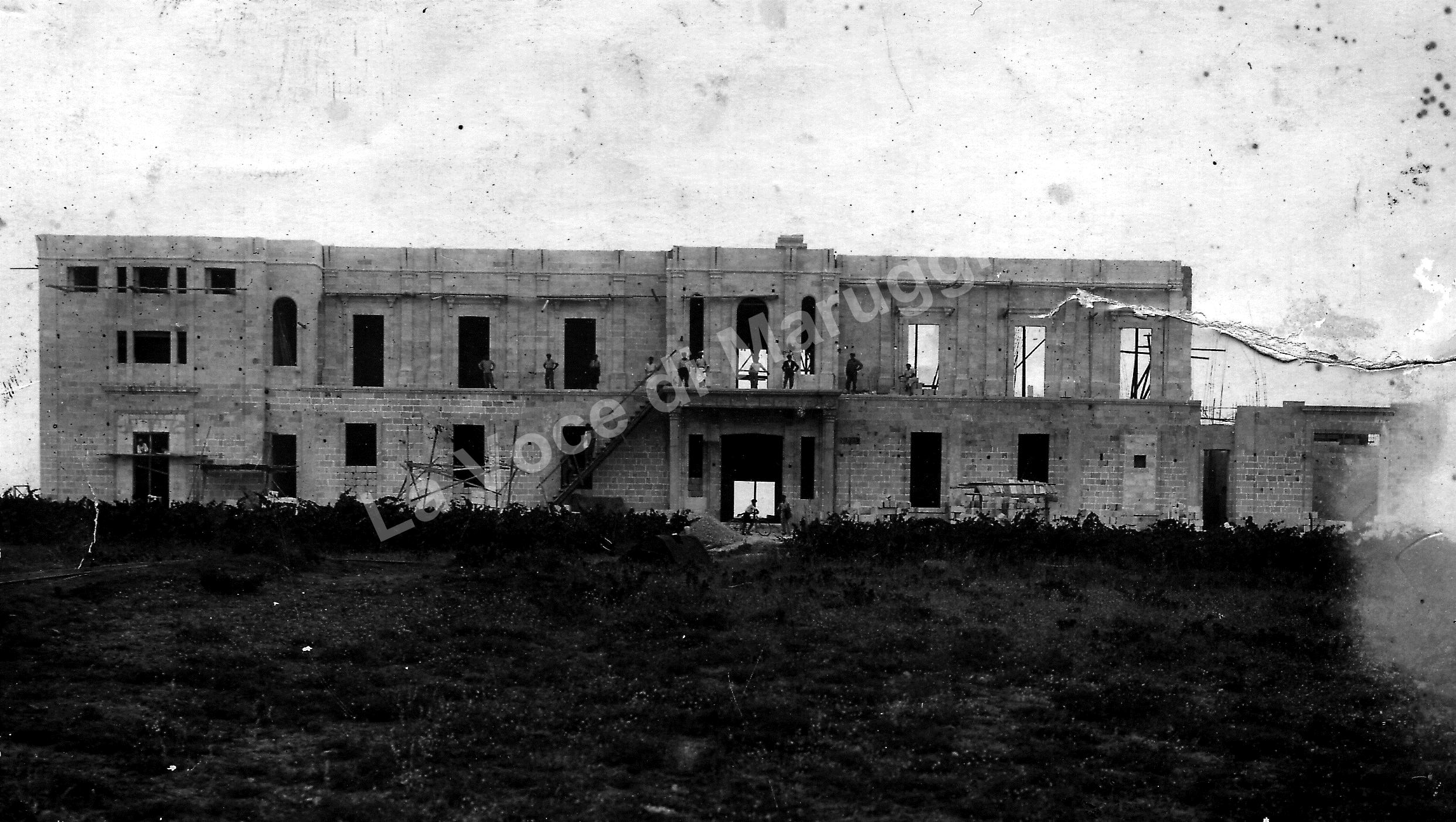 seminario in costruzione anno 1932