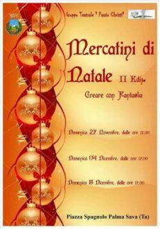 Mercatini di Natale II edizione @ Piazza Spagnolo Sava