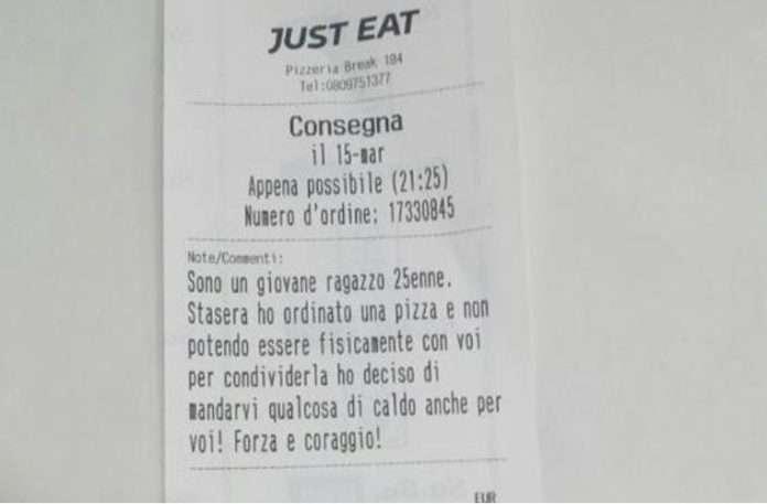 La bella notizia: 'Per me una pizza, per i senzatetto 10 piadine'
